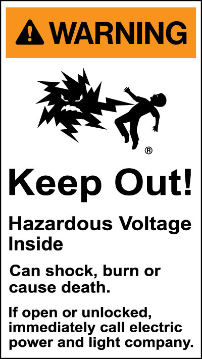 Electrical Safety Sign Warning Keep Out Hazardous