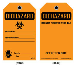 Stonehouse Signs Biohazard Tag