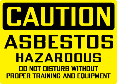 Stonehouse Signs Caution Asbestos Hazardous Sign