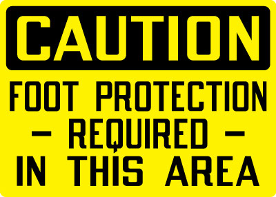 Foot Protection Personal Protection Signs Stonehouse Signs