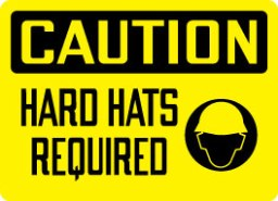 Stonehouse Signs Caution Hard Hats Required Sign