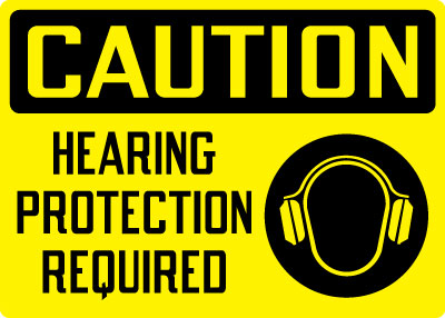 Stonehouse Signs Caution Hearing Protection Required Sign