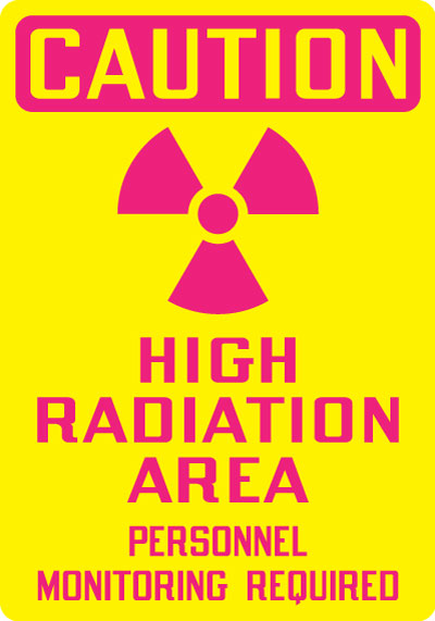 Stonehouse Signs Caution High Radiation Area Personnel Monitoring Required Sign