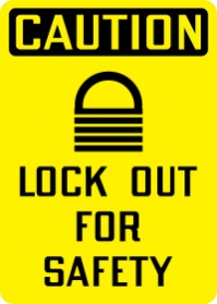 Stonehouse Signs Lockout/Tagout Lock Out For Safety Sign