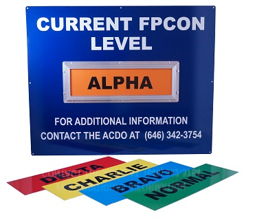 Stonehouse Signs Custom FPCON Slider Signs