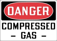 Stonehouse Signs Danger Compressed Gas OSHA Sign