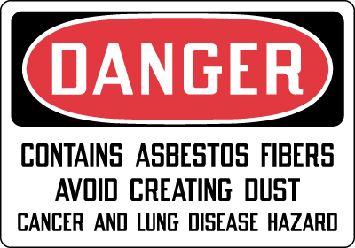 Stonehouse Signs Danger Contains Asbestos Fibers Sign