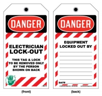 Stonehouse Signs Lockout/Tagout Electrician Lock Out Tag