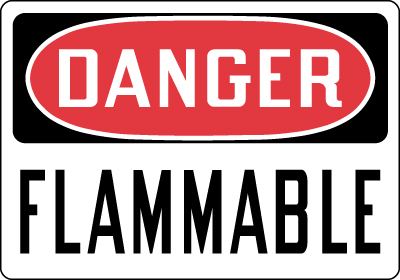 Stonehouse Signs Danger Flammable Sign