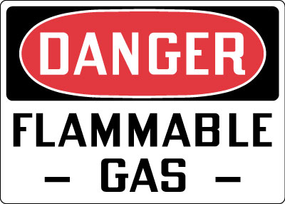 Stonehouse Signs Danger Flammable Gas Sign