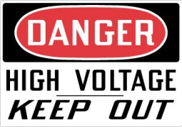 Stonehouse Signs Danger High Voltage Keep Out Sign