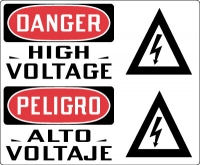 Stonehouse Signs Electrical Safety Sign Danger High Voltage Sign