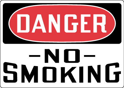 Stonehouse Signs Danger No Smoking Sign OSHA