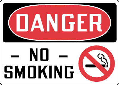 Stonehouse Signs Danger No Smoking Sign With Symbol