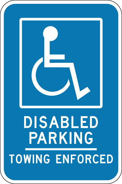 Stonehouse Signs Disabled Parking Towing Enforced Sign