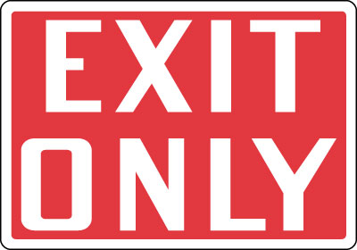 Directional Sign Exit Only Stonehouse Signs