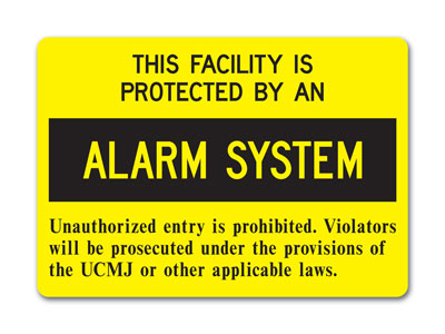 Stonehouse Signs  Military Restricted Area Alarmed Signs, Intrusion Detection Signs and Perimeter Signs