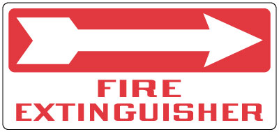 photo regarding Printable Fire Extinguisher Sign named Fireplace Protection Indicator - Hearth Extinguisher: Directly Arrow