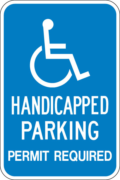 Stonehouse Signs Handicapped Parking Permit Required Sign