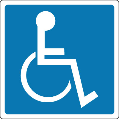 Stonehouse Signs Wheelchair Symbol Sign