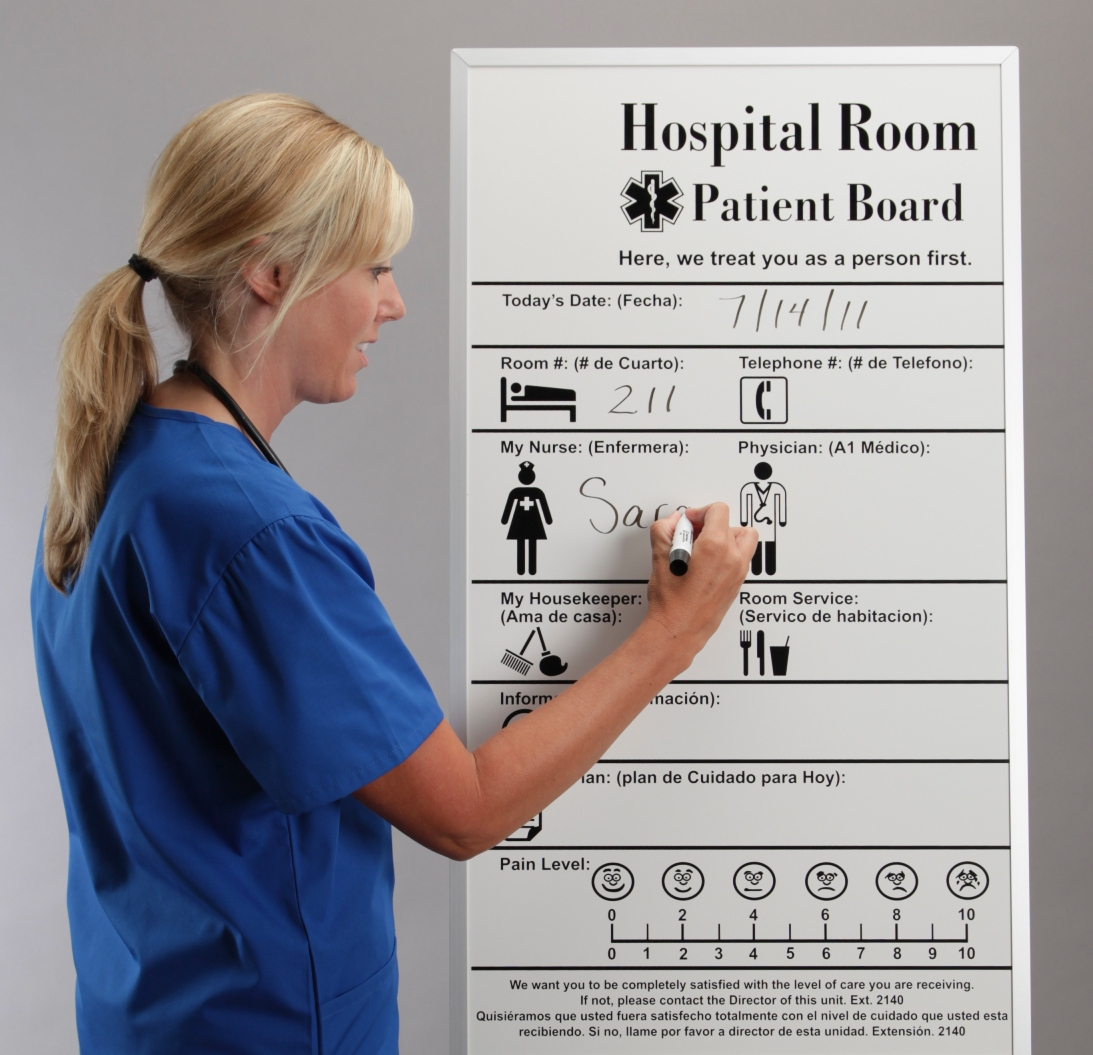 Hospital Patient Room Dry Erase Boards