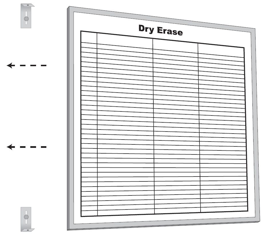 Stonehouse Signs Dry Erase Board Mounting Procedure