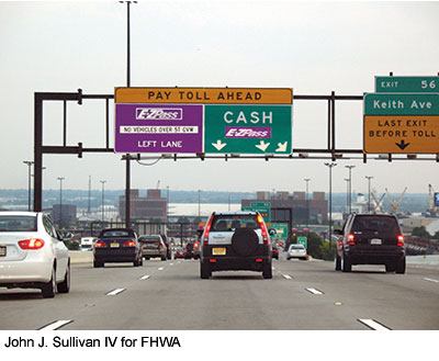 MUTCD 2009 Compliant Toll Signs