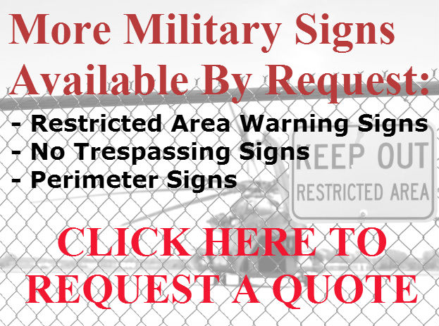 Stonehouse Signs Military Signs - Restricted Area Warning, FPCON & more