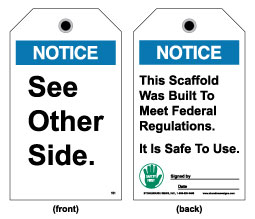 Stonehouse Signs Notice Tags