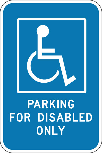 Stonehouse Signs Parking For Disable Only Sign