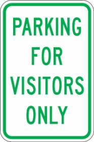 Stonehouse Signs Reserved Parking Sign Parking For Visitors Only