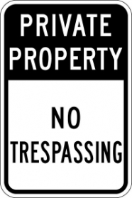 Stonehouse Signs Parking Sign Private Property No Trespassing Sign