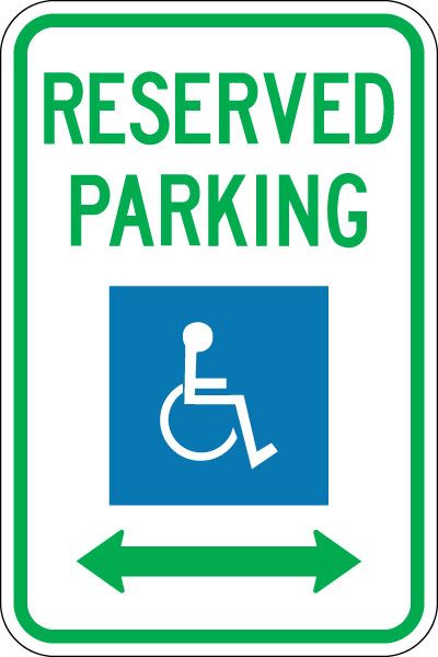 Stonehouse Signs Handicap Reserved Parking Sign Double Arrow