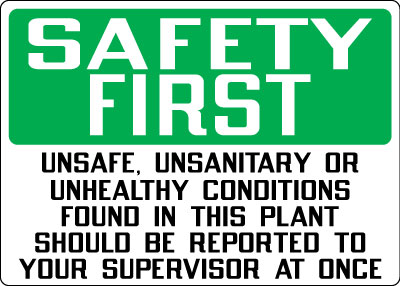 Stonehouse Signs Safety First Safety Slogan Signs Cold and Flu Season