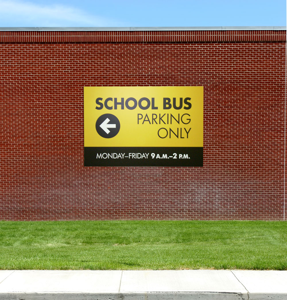 Stonehouse Signs Custom School Bus Parking Signs