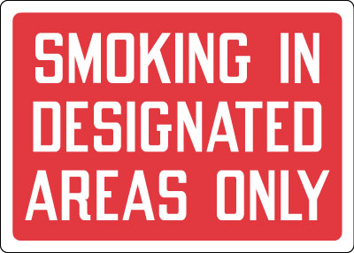 Stonehouse Signs Smoking In Designated Areas Only Sign