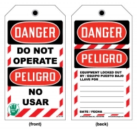 Stonehouse Signs Bilingual English-Spanish Danger Do Not Operate Tag