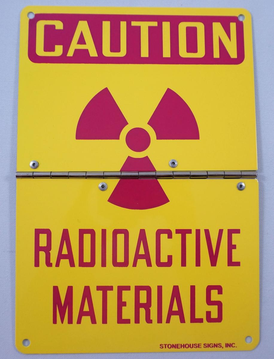Stonehouse Signs Custom Radioactive Materials Sign Hinged Flip Sign