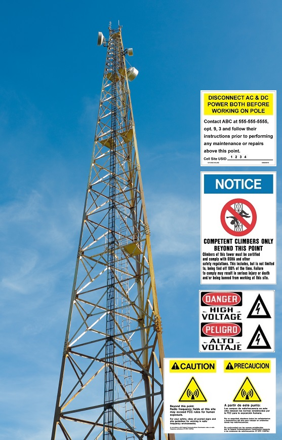 Stonehouse Signs Communication Tower Worker Safety