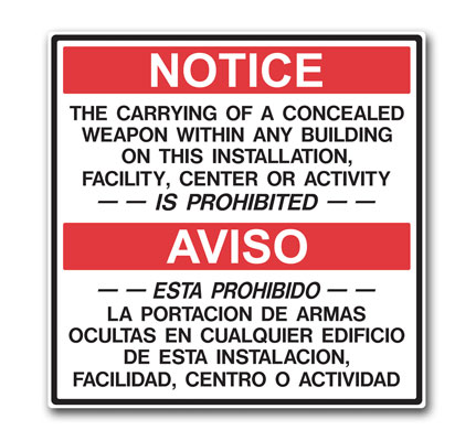 Stonehouse Signs Military Sign Bilingual Restricted Area Warning Sign