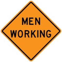 Stonehouse Signs Men Working Sign