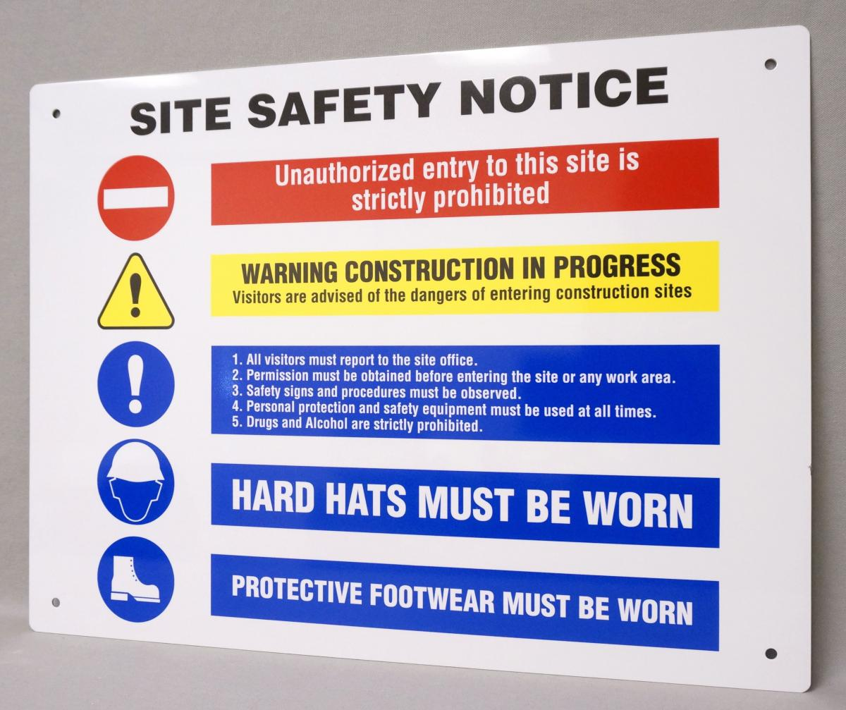 Custom Construction Job Site Safety Signs Stonehouse Signs