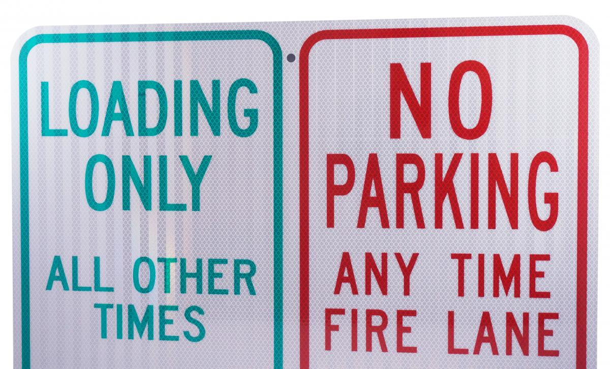 Stonehouse Signs Custom Reflective Parking Sign MUTCD Compliant
