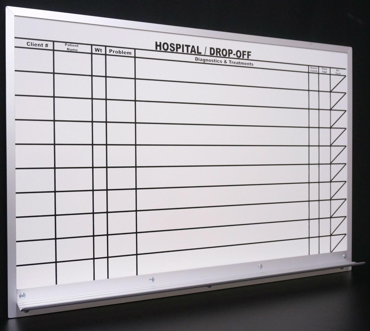 custom magnetic dry erase boards for animal hospital stonehouse signs