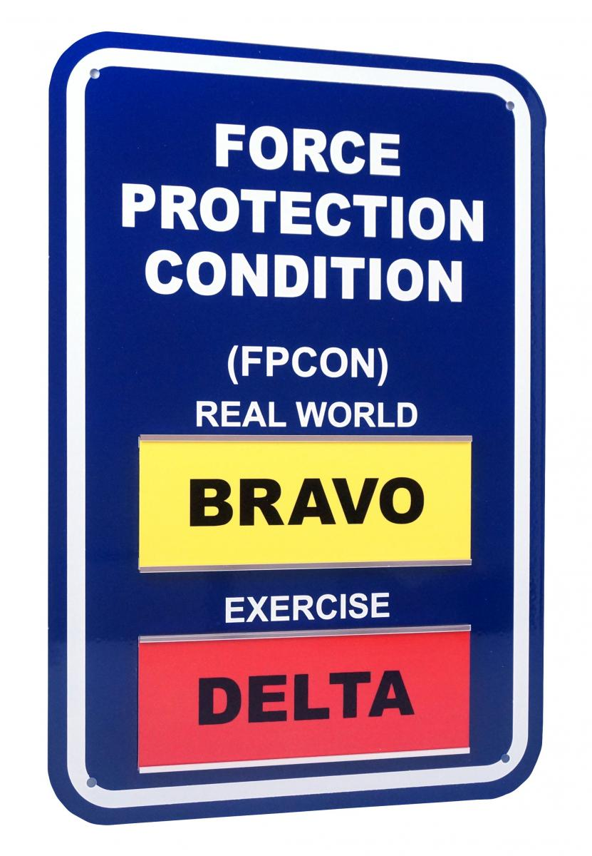 Stonehouse Signs Custom Military FPCON Signs Slider Sign System