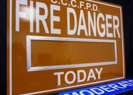 Stonehouse Signs Custom Changeable Fire Danger Signs