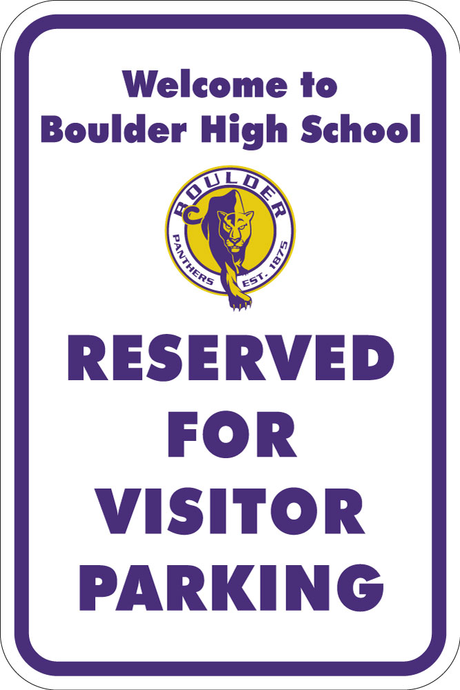 Stonehouse Signs Custom School Parking Sign with Logo