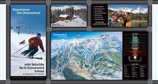 Stonehouse Signs Large Format Outdoor Ski Sign Maps