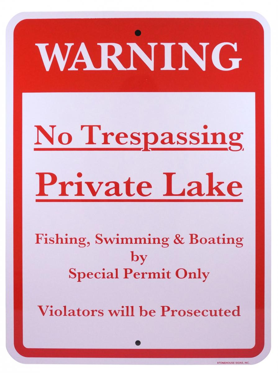 Stonehouse Signs Custom No Trespassing Signs