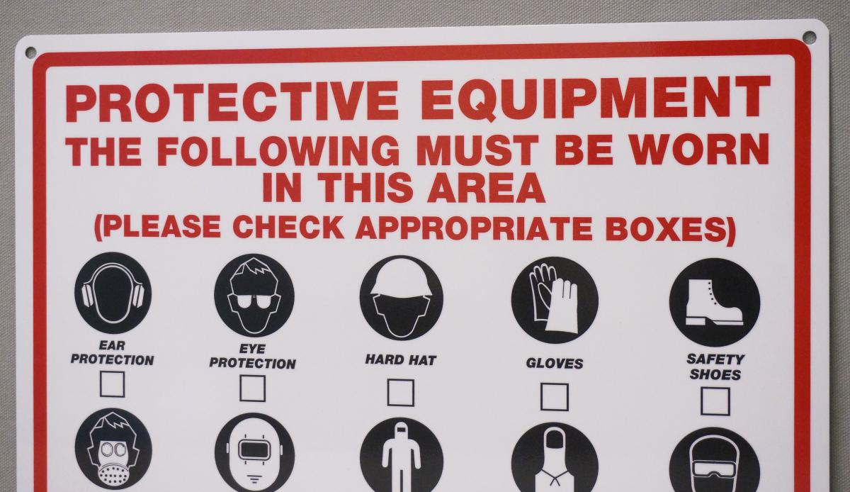 Stonehouse Signs Custom Personal Protective Equipment Signs